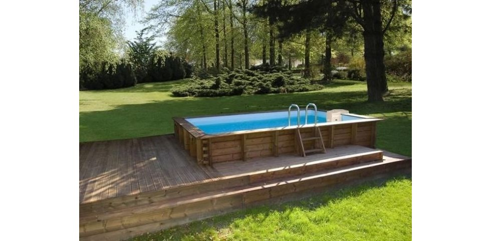Waterman piscine semi enterr e rectangulaire azteck for Dimension piscine semi enterree